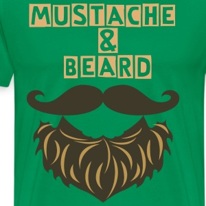 Beard and Mustache :) - Men's Premium T-Shirt