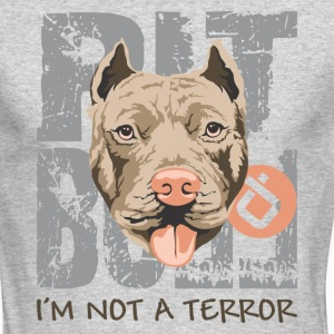 Pit bull not a terror - Men's Long Sleeve T-Shirt by Next Level