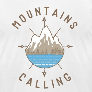 Mountains Calling - Men's T-Shirt by American Apparel