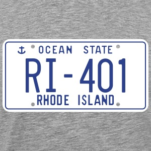 Retro Rhode Island License Plate T-Shirt - Men's Premium T-Shirt