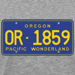 Retro Oregon License Plate T-Shirt - Men's Premium T-Shirt