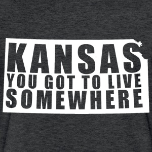 Kansas: You Got To Live Somewhere - Fitted Cotton/Poly T-Shirt by Next Level