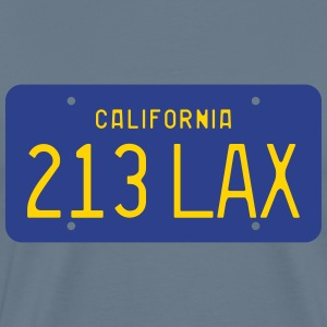 213 LAX Licese Plate T-Shirts - Men's Premium T-Shirt
