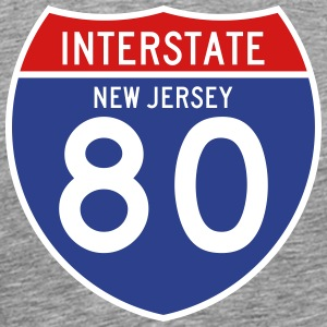 NJ I-80 Sign T-Shirts - Men's Premium T-Shirt