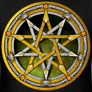 Gold and Silver Pentacle - Men's T-Shirt