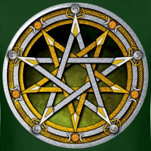 Silver and Gold Pentacle - Men's T-Shirt