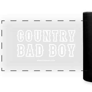 'Country Bad Boy' King Says panoramic mug - Black - Full Color Panoramic Mug
