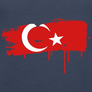 türkische Flagge Graffit Tanks - Women's Premium Tank Top