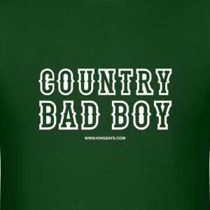 'Country Bad Boy' King Says T-Shirt - Forest Green - Men's T-Shirt