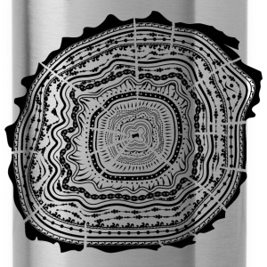 Wooden disc with bark - tree rings Sportswear - Water Bottle