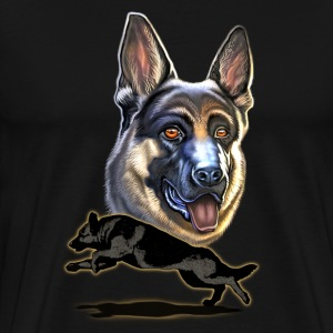 Rahmenlos JL German shepherd dog - Design Present T-Shirts - Men's Premium T-Shirt