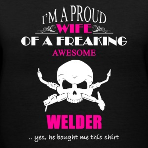 Welder Wife Shirt - Women's V-Neck T-Shirt