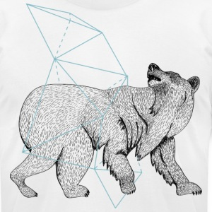 Polar bear and geometry - Men's T-Shirt by American Apparel