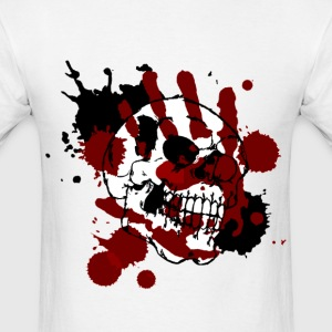 skull and hand of blood - Men's T-Shirt