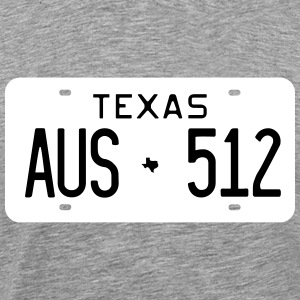 Retro Austin Texas License Plate T-Shirt - Men's Premium T-Shirt