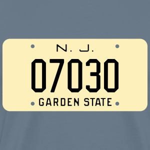 Retro Hoboken New Jersey License Plate T-Shirt - Men's Premium T-Shirt