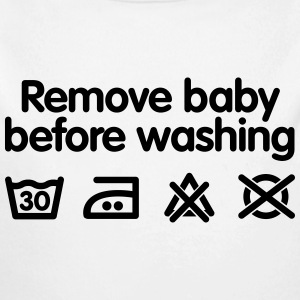 Remove baby before washing Baby Bodysuits - Baby Long Sleeve One Piece