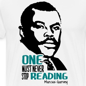 Never stop reading - Men's Premium T-Shirt