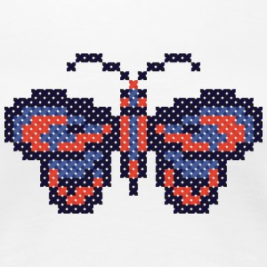 CROSS-STITCH butterfly Women's T-Shirts - Women's Premium T-Shirt