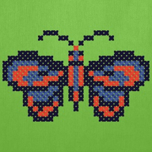 CROSS-STITCH butterfly Bags & backpacks - Tote Bag