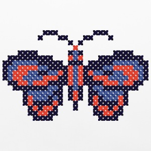 CROSS-STITCH butterfly Other - Pillowcase