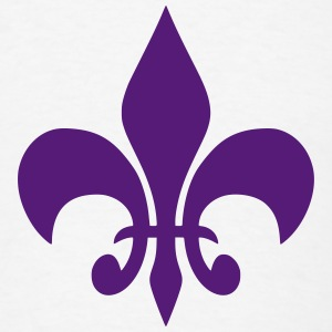 Fleur De Lis T-Shirt (Purple) - Men's T-Shirt