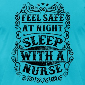 Sleep with a Nurse Humor T-Shirts - Men's T-Shirt by American Apparel