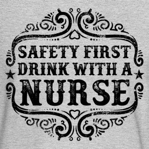 Drink with a Nurse Humor Long Sleeve Shirts - Men's Long Sleeve T-Shirt