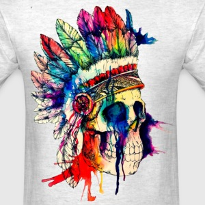 skull native american - Men's T-Shirt