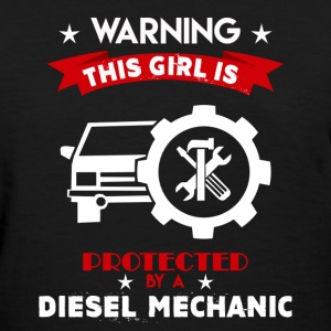 Protected By Diesel Mechanic - Women's T-Shirt