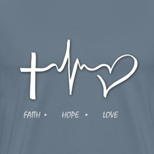 FAITH HOPE AND LOVE - Men's Premium T-Shirt