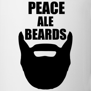 Peace, Ale, Beards. Mugs & Drinkware - Coffee/Tea Mug
