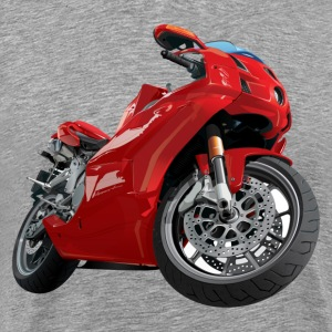 Realistic motor cycle - Men's Premium T-Shirt
