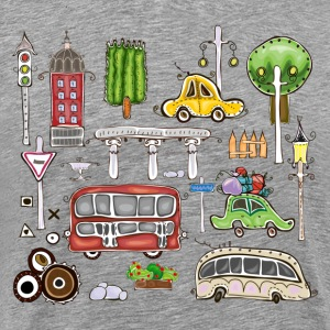 Cartoon hand painted pattern T-Shirts - Men's Premium T-Shirt