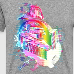 Colorful urban background - Men's Premium T-Shirt