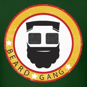 Smile Nation - Beard Gang #1 [Green] - Men's T-Shirt