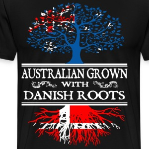 danish - australian grown with dan T-Shirts - Men's Premium T-Shirt