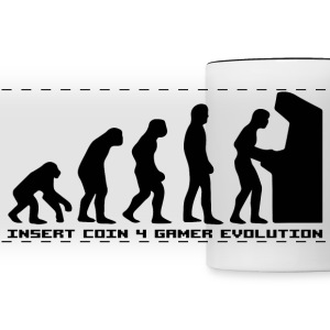 Insert Coin 4 Gamer Evolution  Mugs & Drinkware - Panoramic Mug