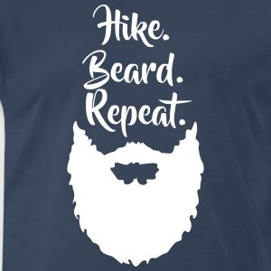 Hike.Beard.Repeat T-Shirts - Men's Premium T-Shirt