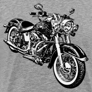 Motorcycle black and white graphics T-Shirts - Men's Premium T-Shirt