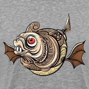 Illustration of dangerous fantastic fish T-Shirts - Men's Premium T-Shirt