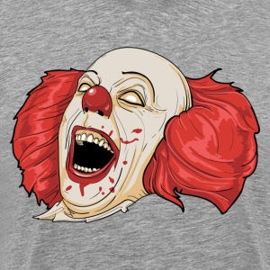 Evil clown laughing art T-Shirts - Men's Premium T-Shirt