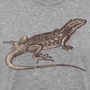 Hand painted animal lizard T-Shirts - Men's Premium T-Shirt