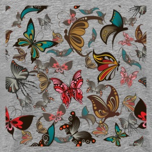 Butterflies background pattern T-Shirts - Men's Premium T-Shirt