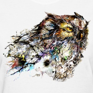 abstract owl - Women's T-Shirt