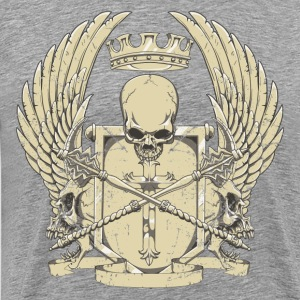 Skull on cross shield design T-Shirts - Men's Premium T-Shirt