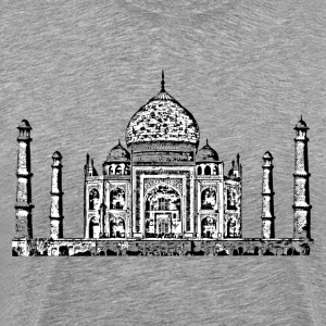 Taj Mahal design art T-Shirts - Men's Premium T-Shirt
