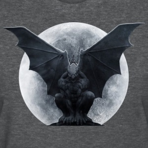 gargoyle and the moon - Women's T-Shirt