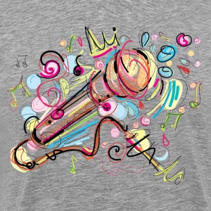 Hand drawn colored musical instruments T-Shirts - Men's Premium T-Shirt
