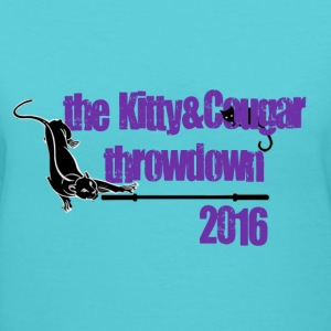 The Kitty & Cougar Throwdown 2016 Women's T-Shirts - Women's V-Neck T-Shirt